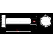 Болт, цб SROUB, 10*50 DIN 603  (с полукруглой головкой)