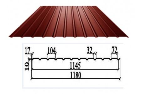 Профлист ПС-10  Структурный дуб 0,40  3D